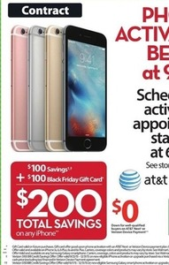 Any iPhone + $100 Black Friday Gift Card