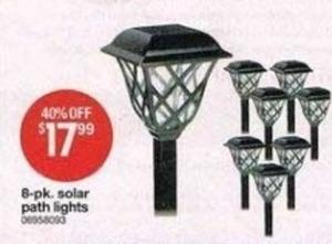 8-Pk Solar Lights