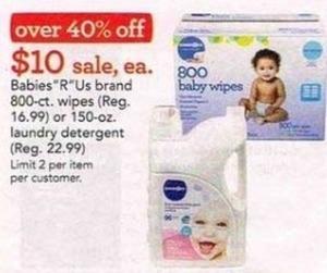 "Babies""R""Us Brand 800-ct Wipes"