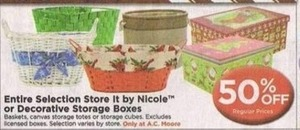 Nicole Baskets and Storage Boxes