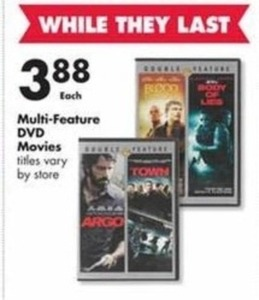 Multi-Feature DVD Movies (Titles Vary by Store)