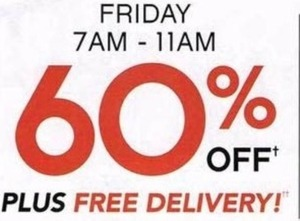 Entire Store + Free Delivery - Fri 7am-11am