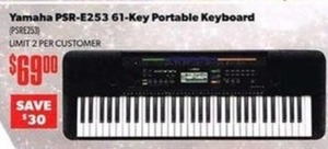 Yamaha 61-key Portable Keyboard