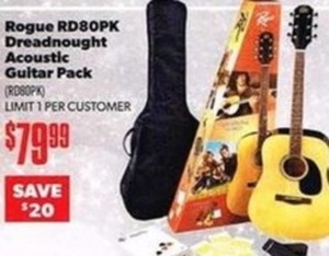 Rogue Dreadnought Acoustic Guitar Pack
