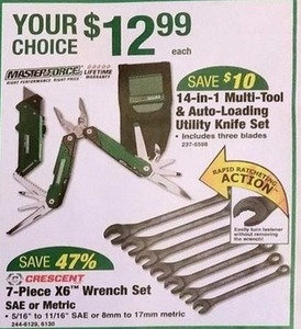 Crescent 7-Piece X6 Wrench Set SAE or Metric