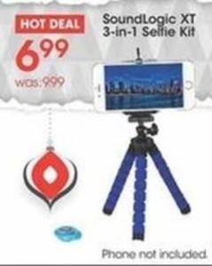 SoundLogic XT 3-in-1 Selfie Kit