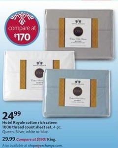 Hotel Royale Cotton 1000 TC Sheet Set