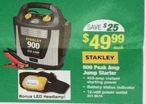 Stanley 900 Peak Amp Jump Starter