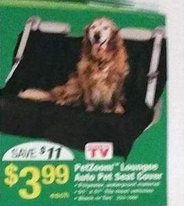 PetZone Lounge Auto Pet Seat Cover