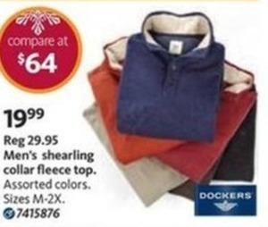 Men's Shearling Collar Fleece Top
