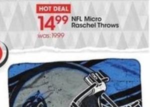 NFL Micro Raschel Throw Blankets
