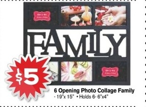 6 Opening Photo Collage Family Frame