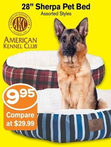 """28"""" Sherpa Pet Bed"""