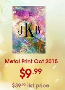 Metal Print Oct 2015