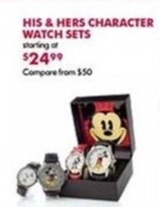 His & Hers Character Watch Sets
