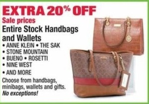 Entire Stock of Handbags and Wallets