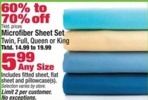 Microfiber Sheet Set (Assorted Sizes)
