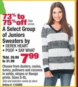 Select Designers Juniors Sweaters