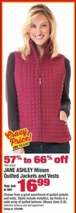 Women's Jane Ashley Quilted Jackets and Vests