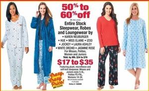 Entire Stock Sleepwear, Robes And Loungewear