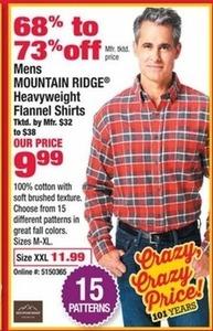 Men's Mountain Ridge Heavyweight Flannel Shirts