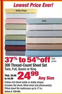 300 Thread-Count Sheet Set (Assorted Sizes)