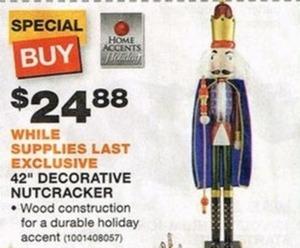 "Home Accents 42"" Decorative Nutcracker"