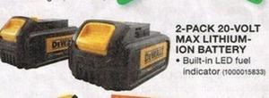 DeWalt 2-Pack 20-volt Max Lithium-Ion Battery