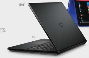 Inspiron 15 3000 Laptop w/ Celeron CPU, 4GB Mem + 500GB HDD (Fri 8AM)