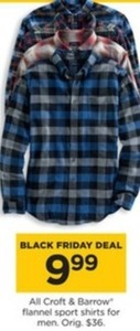 All Croft & Barrow Flannel Sport Shirts For Men
