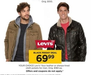 Men's Levi's Faux Leather and Sherpa Lined Jackets