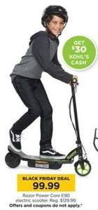 Razor Power Core E90 Electric Scooter + $30 Kohl's Cash