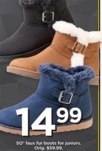 SO Juniors' Faux Fur Boots
