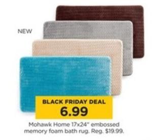 "Mohawk Home 17x24"" Embossed Memory Foam Bath Rug"
