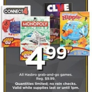 All Hasbro Grab-and-Go Games