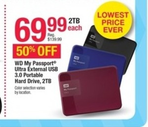 WD My Passport Ultra External 2TB Hard Drive