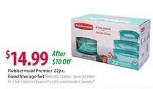 Rubbermaid Premier 22pc. Food Storage Set