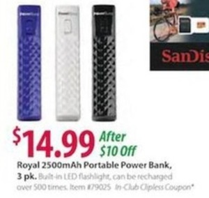 Royal 2500mAh Portable Power Bank