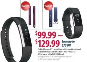 Fitbit Alta Fitness Wristband with Bonus Band