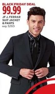JF J. Ferrar Men's Suit Jacket & Pants