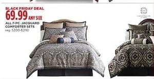 All 7-Piece Jacquard Comforter Sets