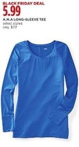 A.N.A. Women's Select Styles Long-Sleeve Tee
