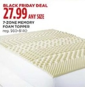 7 Zone Memory Foam Topper Any Size