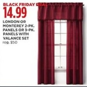 London or Monterey 2pk Curtain Panels