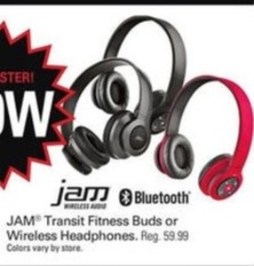 Jam Transit Fitness Buds or Wireless Headphones