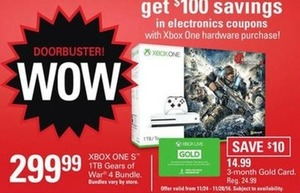 XBOX 1TB Gears of War 4 Bundle