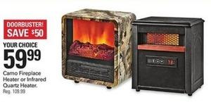 Camo Fireplace Heater or Infrared Quartz Heater