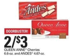 Queen Anne Cherries 6.6-oz. and Andes 4.67-oz.
