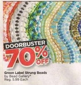 Green Label Strung Beads