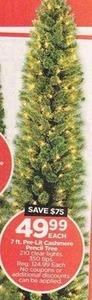 7 ft. Pre-Lit Cashmere Pencil Tree